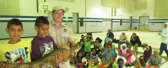 Animal show in the GYM