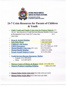 OPS 24-7 Crisis Resources