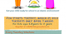Preschool program at Ottawa Mosque