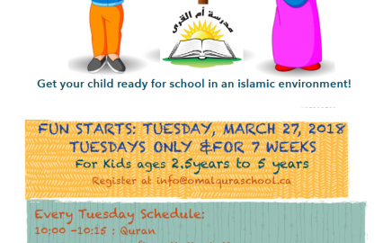 Preschool program at Ottawa Mosque